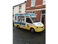 Ice Cream Van Ford Transit W reg whitby morrison rebody