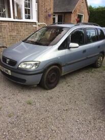 Vauxhall zafira dti comfort 7 seater