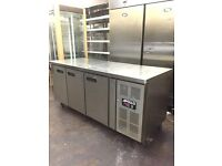 Apollo commercial bench fridge, top table under counter fridge