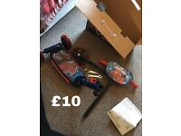 Spider-Man scooter, never been used but box has been opened. Collection only
