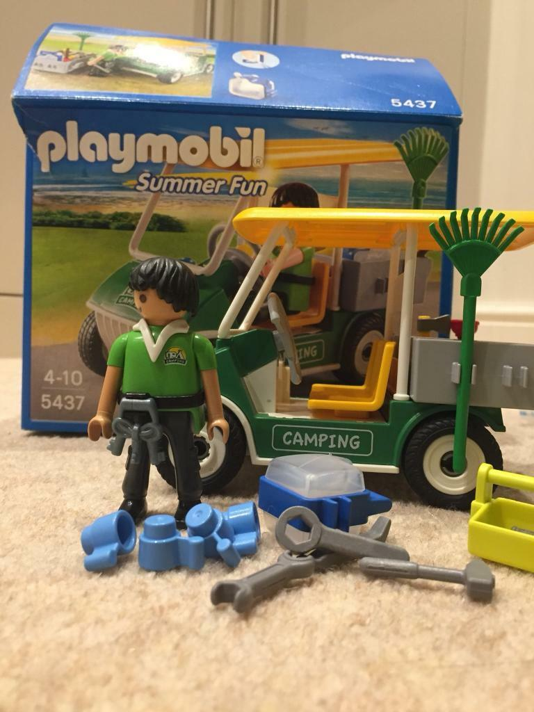 Playmobil 5437 camping maintenance car crew