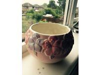2 Matching ceramic plant pots