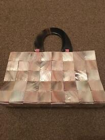 Ladies pink shell bag- ideal for nights out