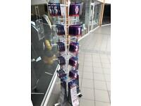 Spinning shop display stands