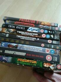Mixture of Blu -rays, with 1 pile of DVDs