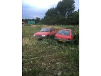 Peugeot 205D X2 one with mot one with out