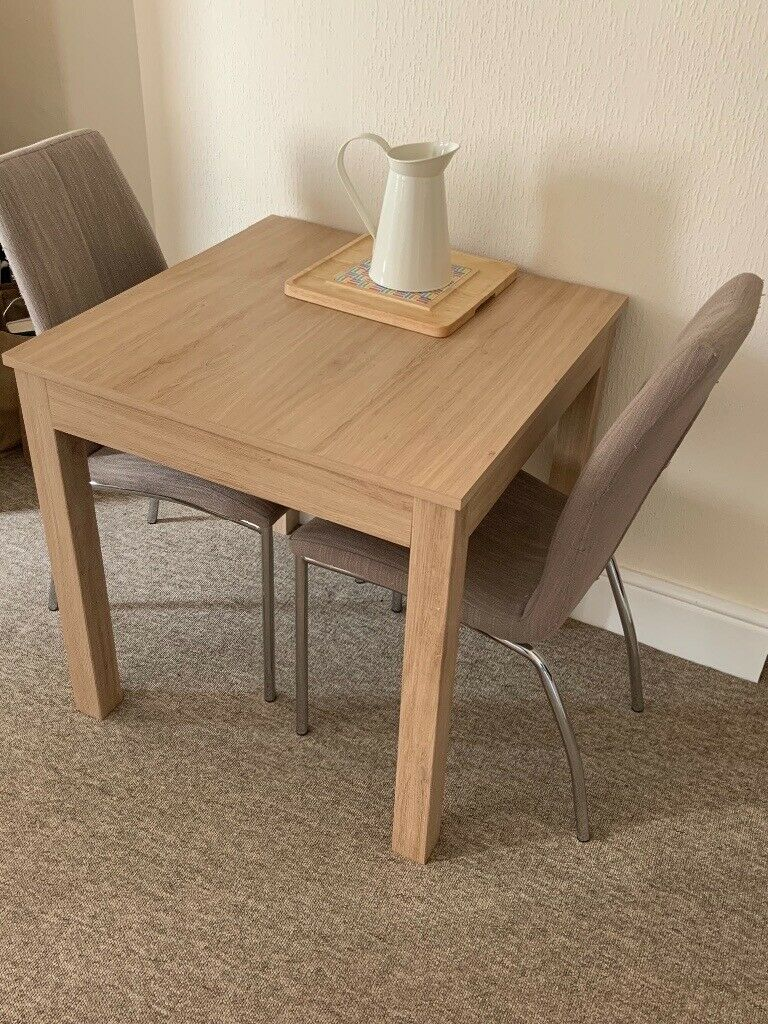 2/3 seater dining table with 2 chairs | in Sherborne ...