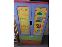 Children's beanstalk wardrobe + 2 drawers