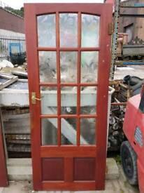 12 panel glass internal door (#550)