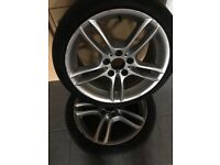 """STAGGERED BMW M-SPORT 18""""ALLOYS 225/40/18 TYRES ALL GOOD TREAD"""