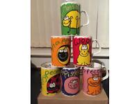 Kingsbury Kookie Kreatures mugs. Perfect condition. Never used.