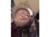 ROLEX YACHTMASTER PINK FACE RARE