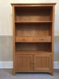 Solid Oak Display unit by Corndell Furniture