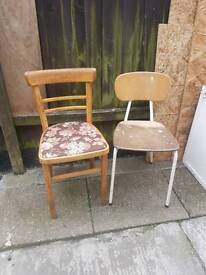 2 old used chairs