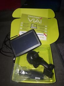 Tom Tom Sat Nav Via 135 boxed not used. Western europe edition. With instructions and accessories