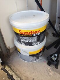 Sandtex Trade Smooth Finish Masonry Paint in Brilliant White 20L
