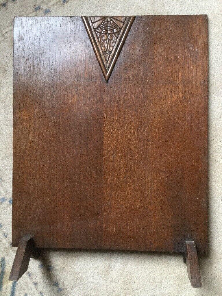1930-1950's vintage oak fire screen, great condition