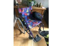 Large Size Self Propelled Folding Wheelchair