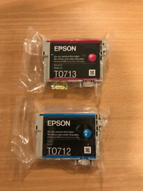 2 Epson printer cartidges - new - sealed