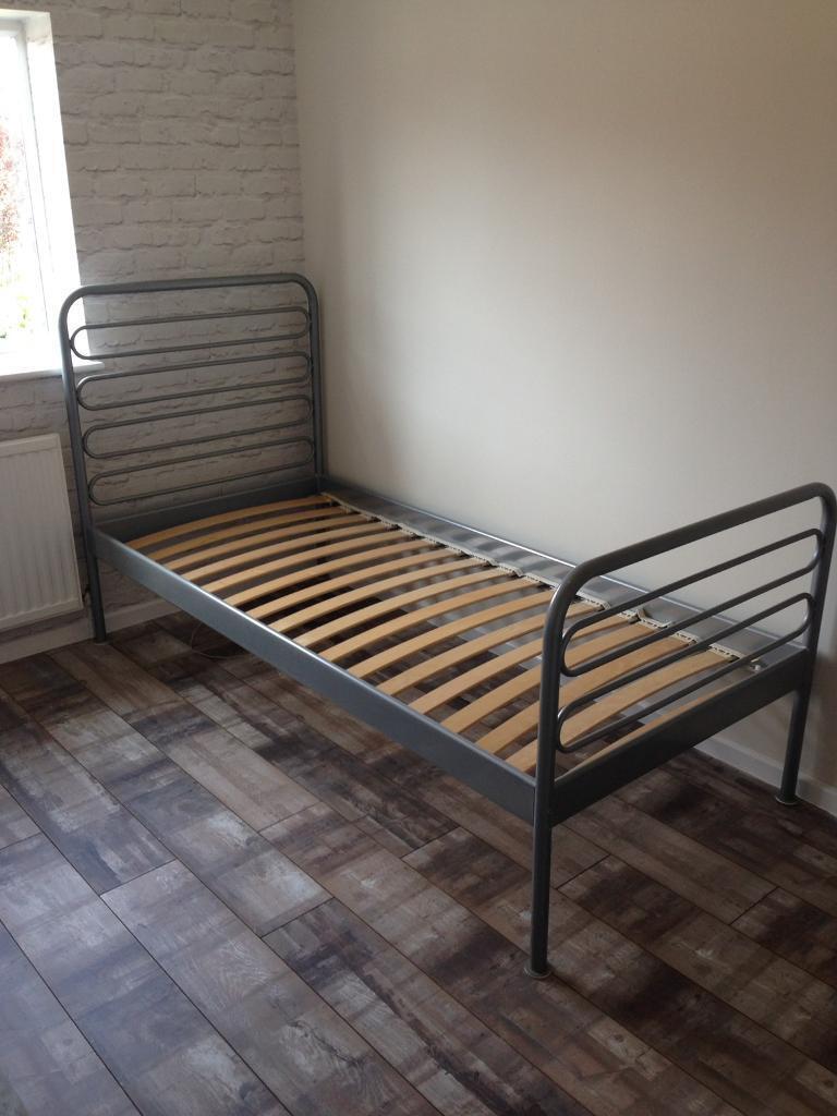 ikea loen single metal bed frame in dodworth south. Black Bedroom Furniture Sets. Home Design Ideas