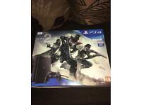 PS4 500gb jet black with destiny 2