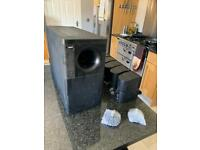 Bose acoustimass double cube speakers