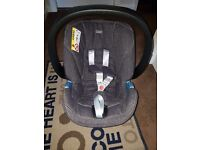 Mamas & Papas Cybex Aton Baby Car Seat Group 0+ & Isofix Base In Denim Blue 8 Months old AS NEW