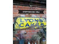 Lyons enamal sign