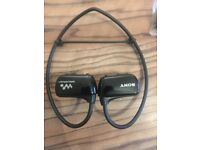 Sony Walkman underwater headphones and Mp3 player. used once