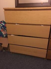 Malm 4 drawer beechwood