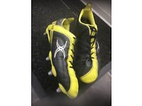Gilbert rugby boots size 8