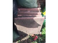 Red/pink Patio/Front garden square pavers paving slabs