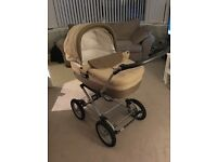 Mamas & Papas Travel System: carry cot, push chair, car seat & rain/sun covers