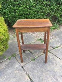 Solid OAK 1950 HANDMADE occasional table CONSERVATORY