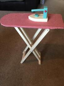 Children's iron and ironing board