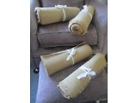 Hessian table runners for vintage wedding