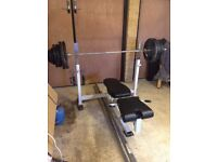 Heavy Duty Weights (180kg) and Weights Bench