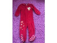 Girls Disney Belle Fleece Onesie Pyjamas - Age 4-5