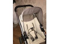 Icandy pushchair carrycot and rain covers