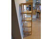 Ikea Molger Solid Birch Wood Bathroom/Living Room Shelving Unit