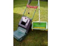 Garden Lawn Rake and Seed spreader