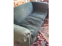 Free Green fabric Sofa and two chairs
