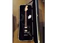 Fender Blacktop HH Mexican Jaguar with Peavey Moulded Case & Fender Strap RRP £437