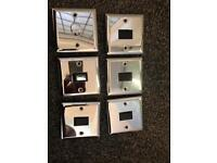 Chrome light switches x 6