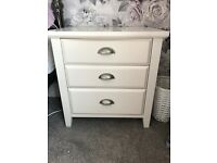 White/cream bedside table