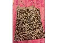 Leopard print vest top