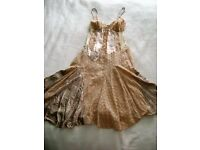 NEXT DRESS - CREAM/BEIGE - SIZE 12 - WORN ONCE