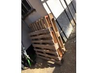 Free wood. Three full sturdy wooden pallets and lots of miscellaneous broken wood.
