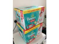 Reduced!!! 2 Boxes of Pampers Baby Dry Pants Size 4