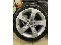 "Genuine 17"" Audi A3 alloy wheels and tyres"